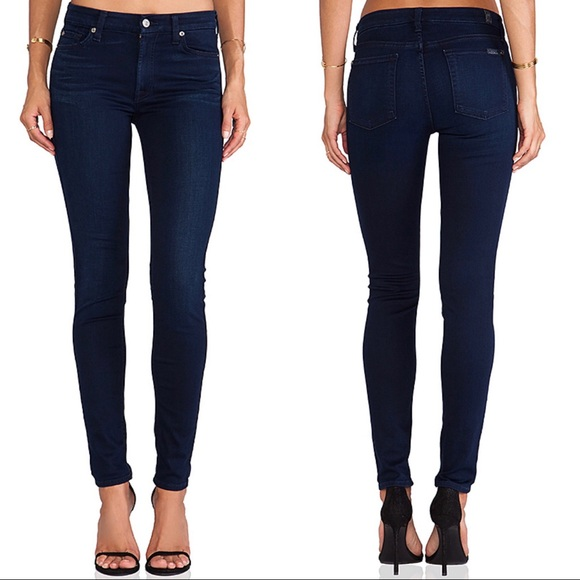 7 For All Mankind Denim - 7 For All Mankind Mid Rise Skinny Jean